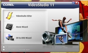 Ulead VideoStudio 11 Welcome Screen