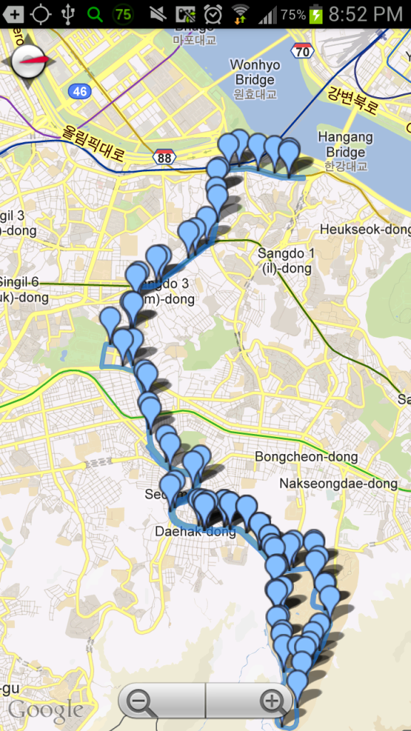 Map of Bus' Route
